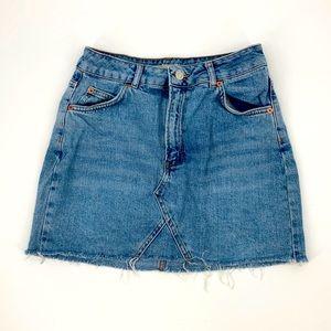 Topshop Moto Denim Jean Mini Skirt